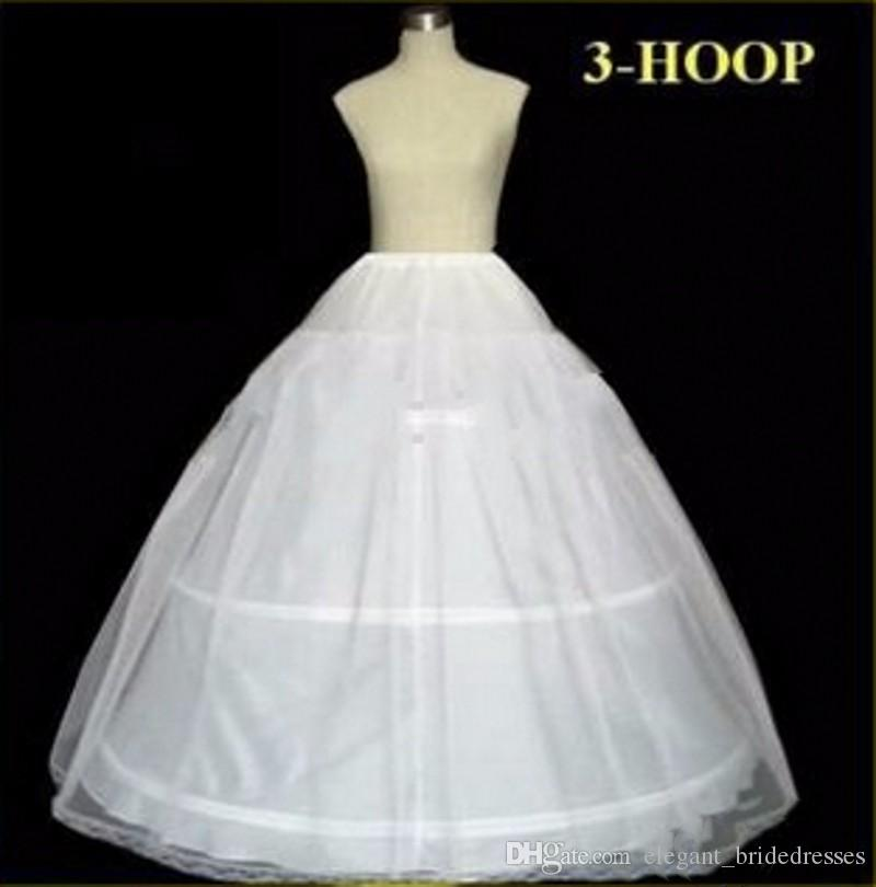 В наличии Нижние юбки Свадебное бальное платье Ball 3 Hoop Bone Полный Crinoline Нижние юбки Для свадебного платья Свадебная юбка Аксессуары Slip