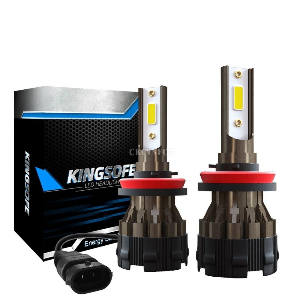 100Pcs/Lot 50Pair Car Lights Bulbs H4 LED H7 H11 HB4 Auto K2 Car Headlight Bulbs 72W 8000LM Car Styling 6000K Led Automotivo 12V