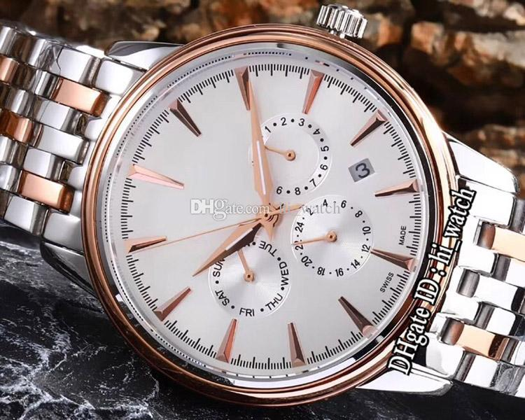 New Dive 4643.20.32 Two Tone Rose Gold Silver Dial Automatic Mens Watch No Chronograp Stainless Steel Watches Cheap 5 Colors hi_watch G27b2