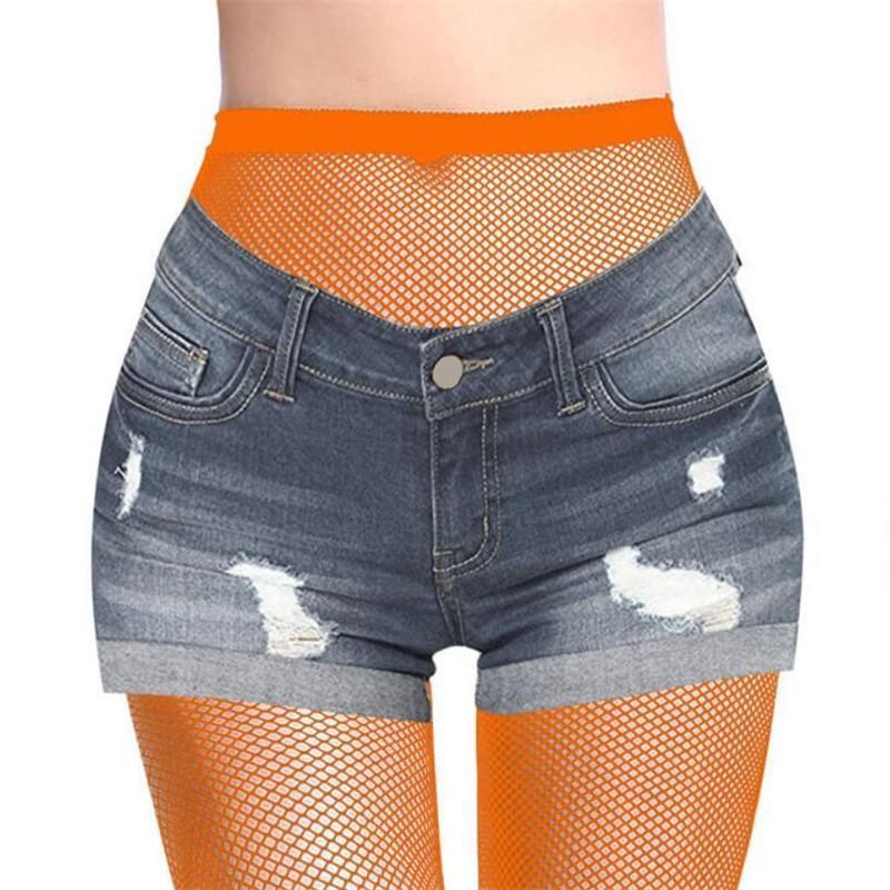 Signore calze sexy Hollow collant a rete Jeans Hole che basa maglia di calze e collant di nylon multicolore elastico Calze Hot