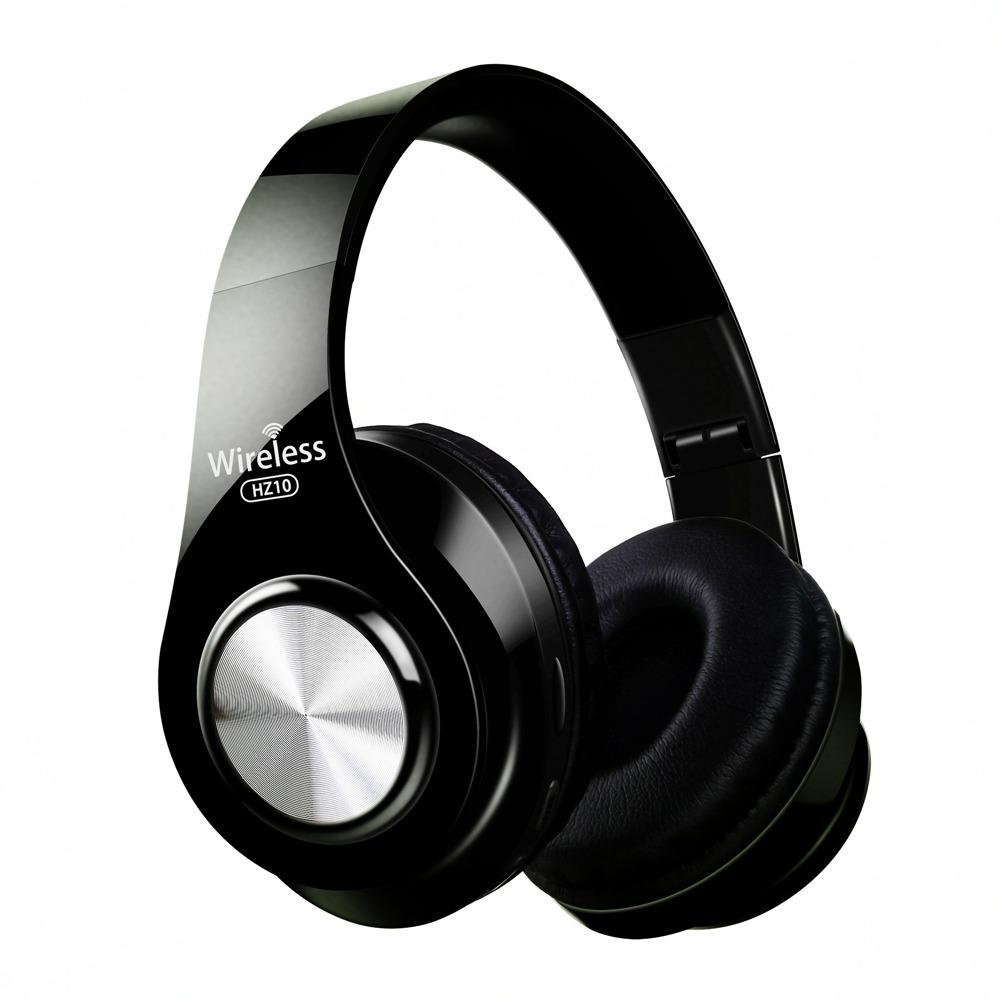 귀 블루투스 헤드폰 접이식 헤드셋 조절 이어폰으로 마이크를 들어 TV 핸드폰 PC 동안 HZ10 무선 헤드폰을 머리에 장착