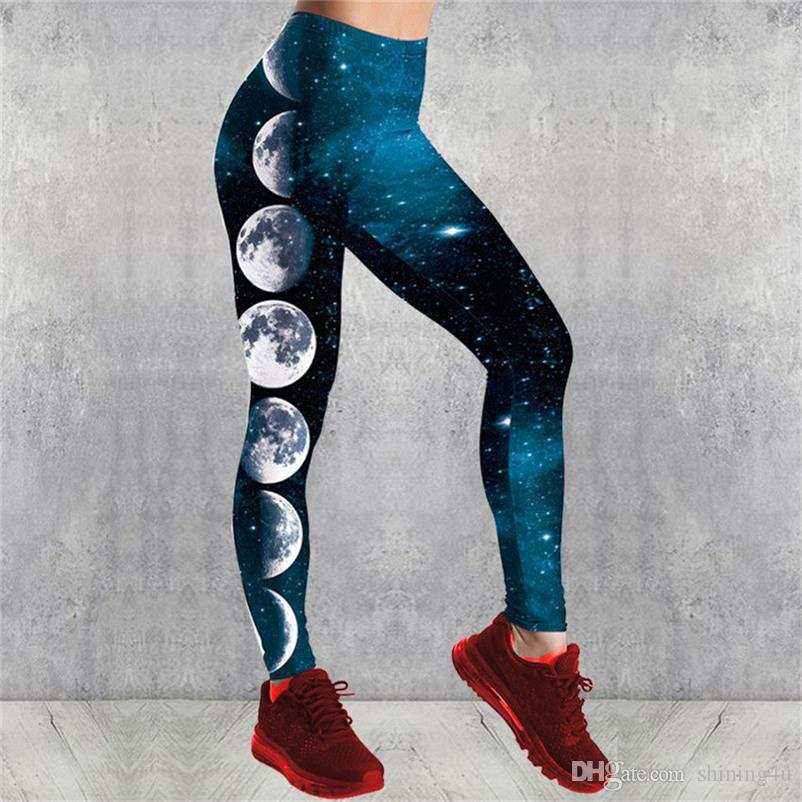Galaxy Printed Fitness Leggings High Waist Exercise Wear Lift Butts Sport Wear Skinny Athletic Pants Women Plus Size Gym Clothing