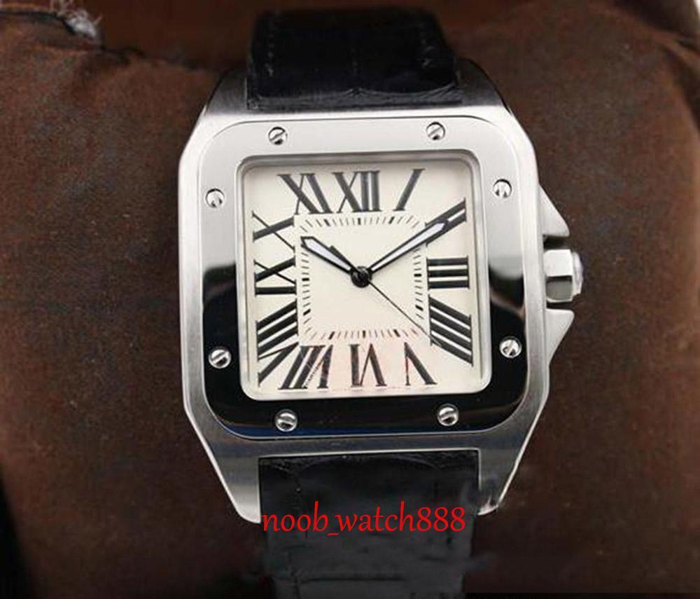 2020 mens calientes de la venta del reloj de blancos automático mecánico del dial de reloj de marcación Plaza Monor Hemmo envío libre esquelético de plata Correa de cuero