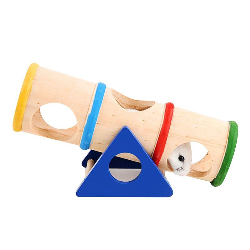 Деревянные игрушки Hamster Деревянные игрушки Перевернутые Bucket Hamster Качели Tunnel Tube Малый Pet