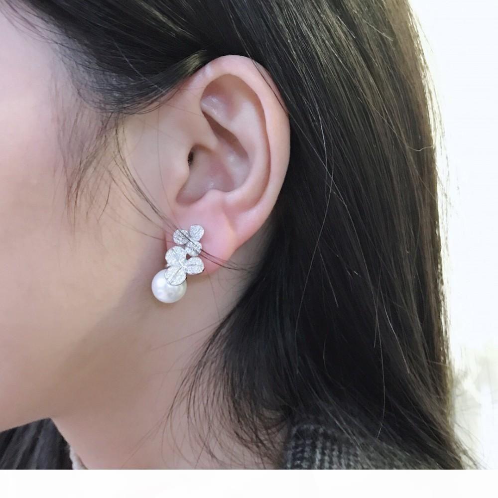joyería de 2019 de la moda de las mujeres clásico caliente en el nuevo y elegante modelson salvaje perla sencillo