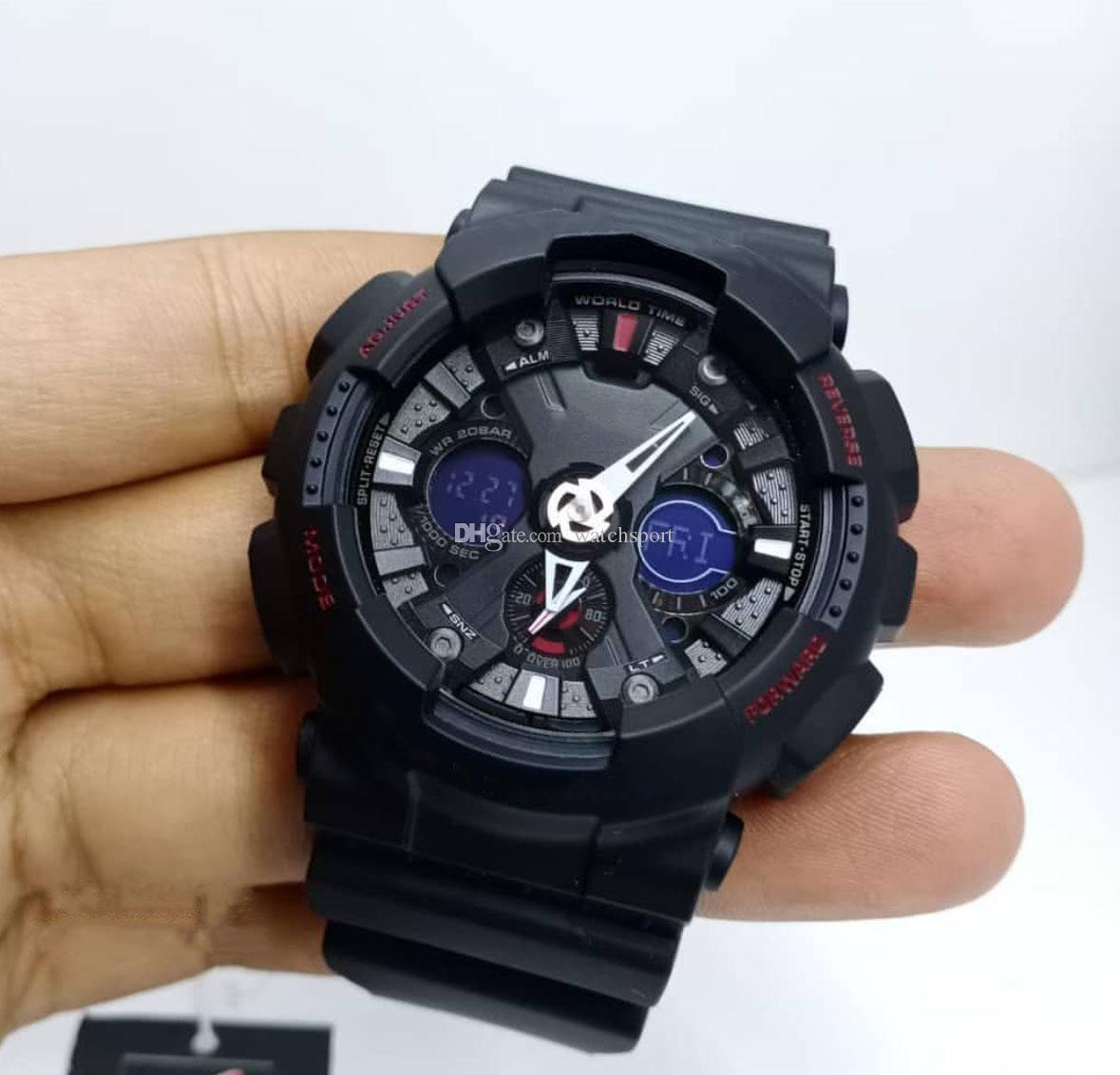 Japan Designer Mens Watches 8 Color Best Selling g120 Style Shock Clock High Quality LED Display Clock Automatic Watch Chrismas Gift For Man