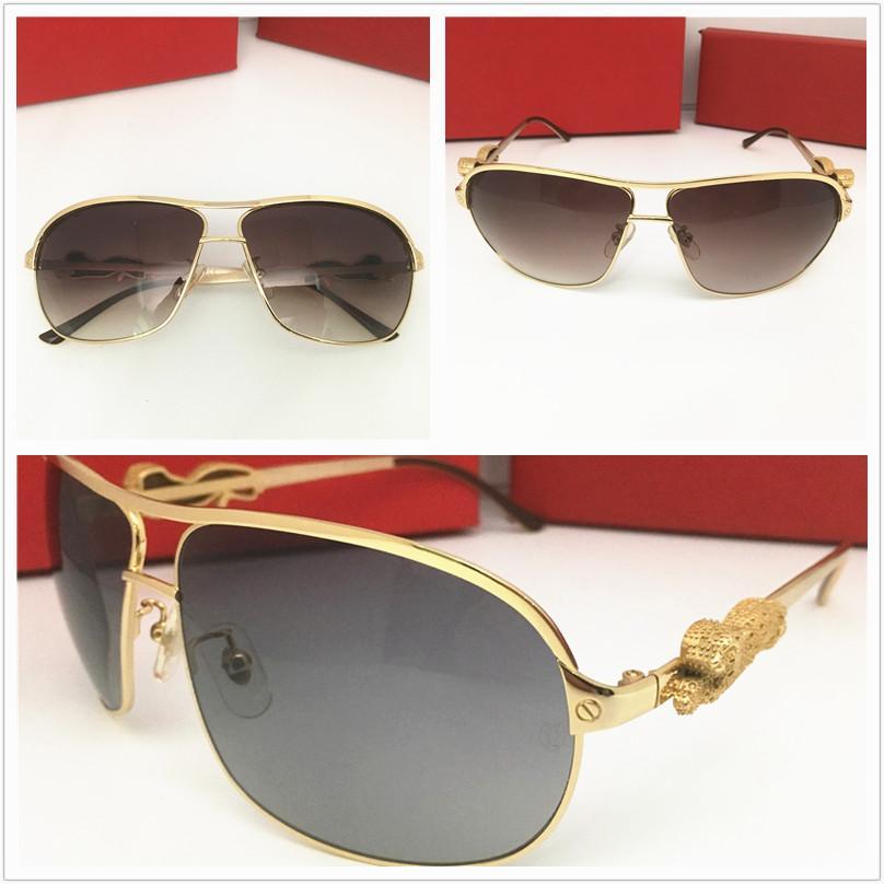 الأزياء الفاخرة مصمم المعادن ماركة نظارات الرجال النساء الكلاسيكية نظارات الشمس حملق نظارات شمسية مربع ذهبي أعلى جودة أعلى جودة الشمس