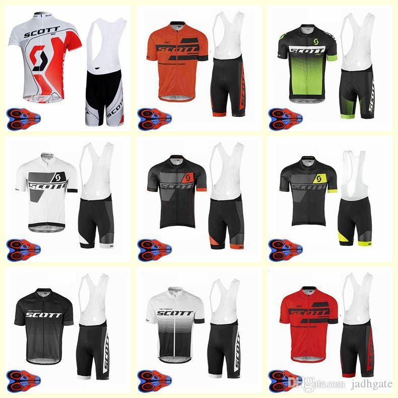 2020 SCOTT team Велоспорт короткие рукава Джерси шорты комплект велосипед лето дышащая одежда одежда ropa ciclismo 9D гель pad U20042015