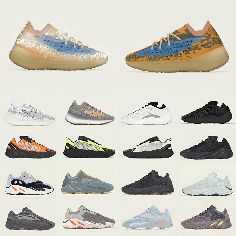 Adidas Boost 380 Blue Oat Reflective Kanye West 700 men women Running shoes V3 Mist Azael Alvah Phosphor wave runner 700s 380s Outdoor sports designer sneakers