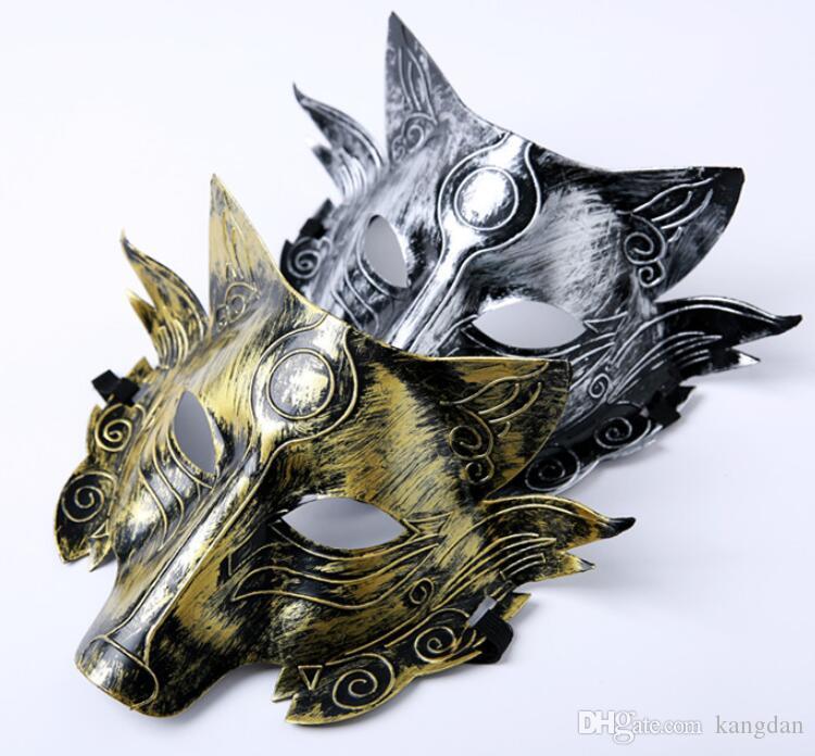 2019 Wolf Animal Máscara Festival Halloween Party Cosplay Lobo festival decoração Bar Decoração Adulto lobisomem Máscara Atacado