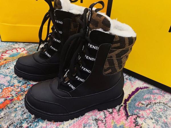 어린이 마틴 신발 가죽 부츠 겨울 어린이 부츠 소녀 소년 WRAM 신발 고무 부츠