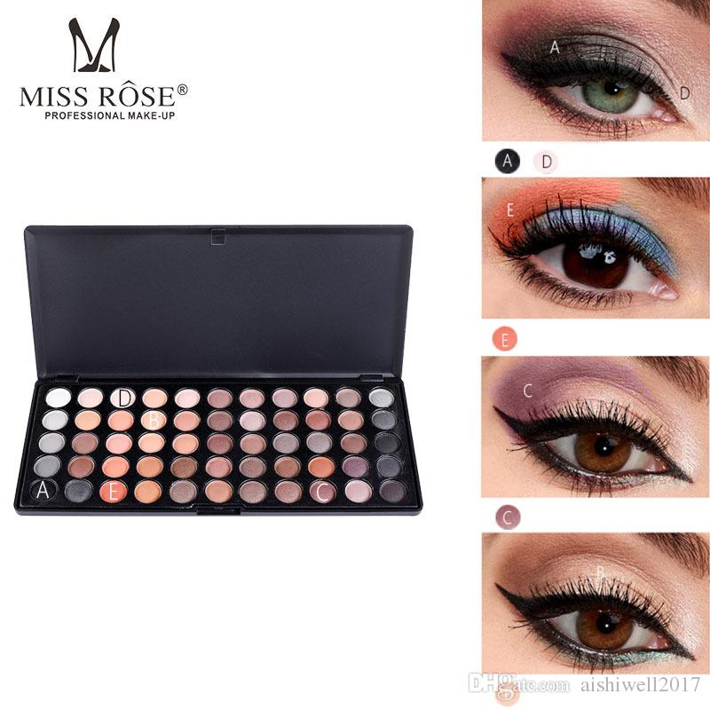 Miss Rose Eye Shadow Palette 55 Colors Earth Color Eyeshadow Palette 3D Matte Eye Shadow Eye Makeup