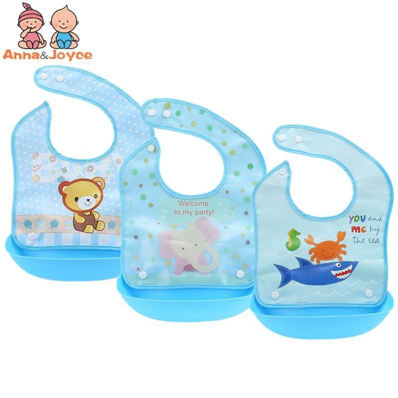 3Pc/lot Baby Bibs Waterproof Infant Burp Cloths Feeding Rice Food Bibs Baby Towel