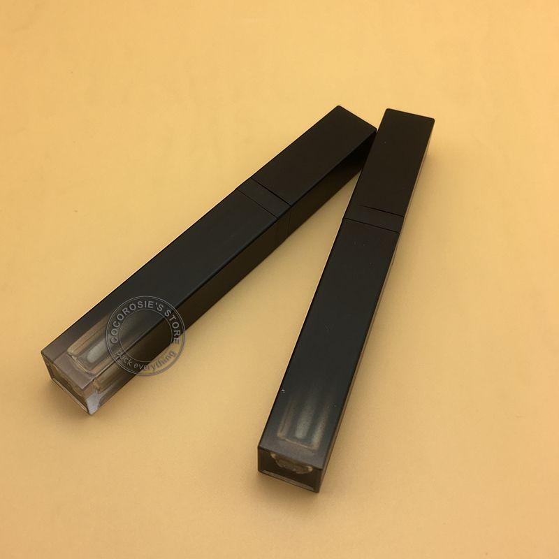 التدرج فارغة شفة سوداء أنبوب لمعان الشفاه 5ML حاوية معان ماكياج حاوية النفط أنبوب من البلاستيك اللامع عبوة قابلة للتعبئة الأنبوبة
