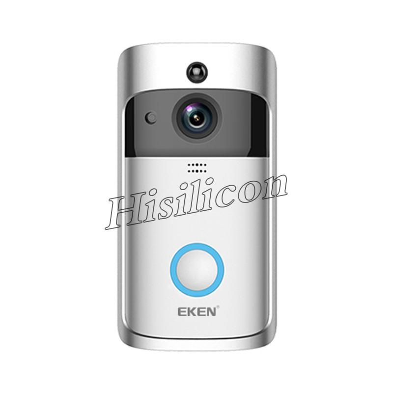 5pcs EKEN Home Video Wireless Doorbell 2 720P HD Wifi Real-Time Video Two Way Audio Night Vision PIR Motion Detection APP Control