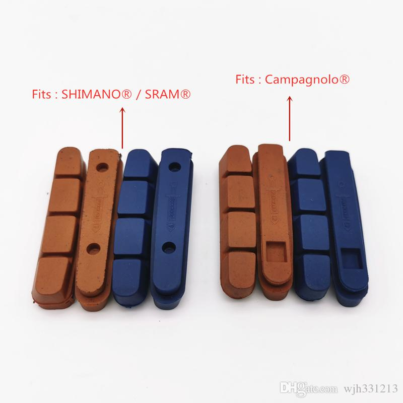 Fouriers V Caliper Brake Pads Shoes for CAMPAGNOLO Shimano Carbon Alloy Rims