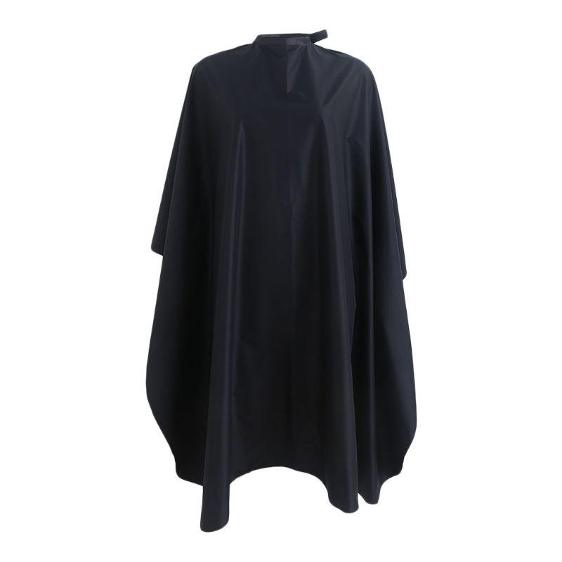 Capes wasserdichter Nylon-Salon-Haar-Schnitt Friseur-Friseur-Friseur-Friseur-Birnen-Kap-Kleidtuch schwarz 150x120cm