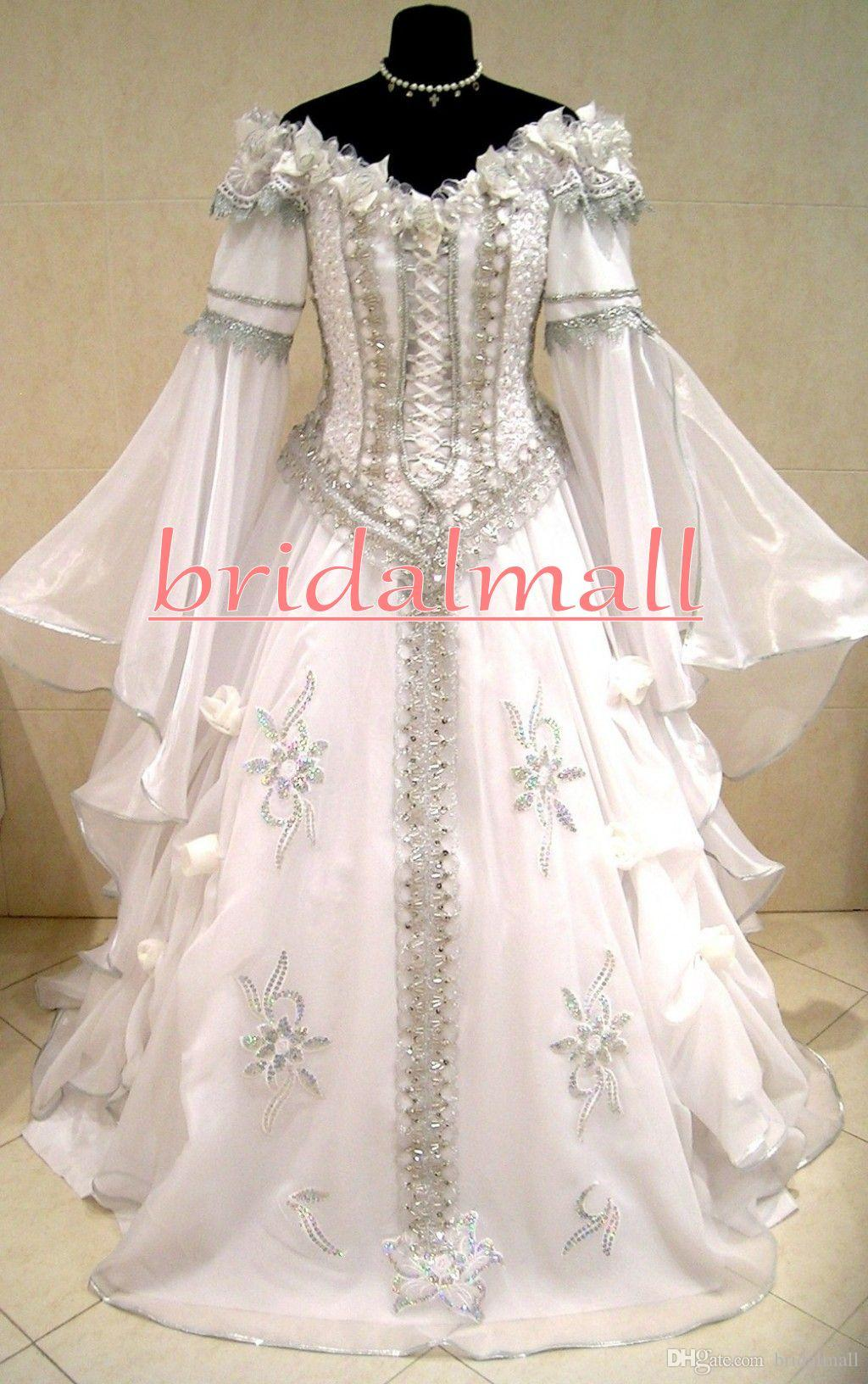 Discount New Medieval Wedding Dresses Witch Celtic Tudor
