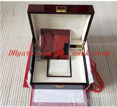 السفينة حرة سوبر الجودة topselling الأحمر نوتيلوس ووتش المربع الأصلي أوراق بطاقة الخشب صناديق حقيبة ل aquanaut 5711 5712 5990 5980 ساعة