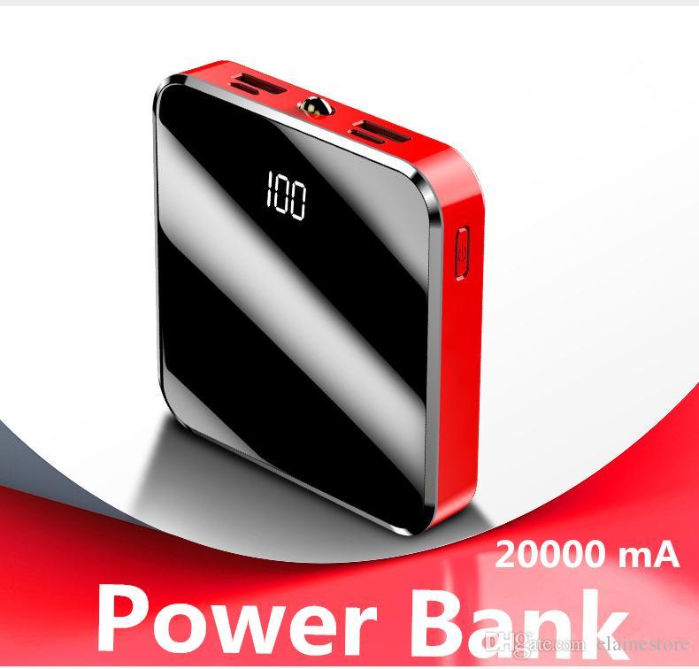 20000mA Power Bank Kompatibel mit Typ C- und Micro-Schnittstellen und zwei USB-Ausgängen. Schnellladung + Schnellladung des externen Akkus