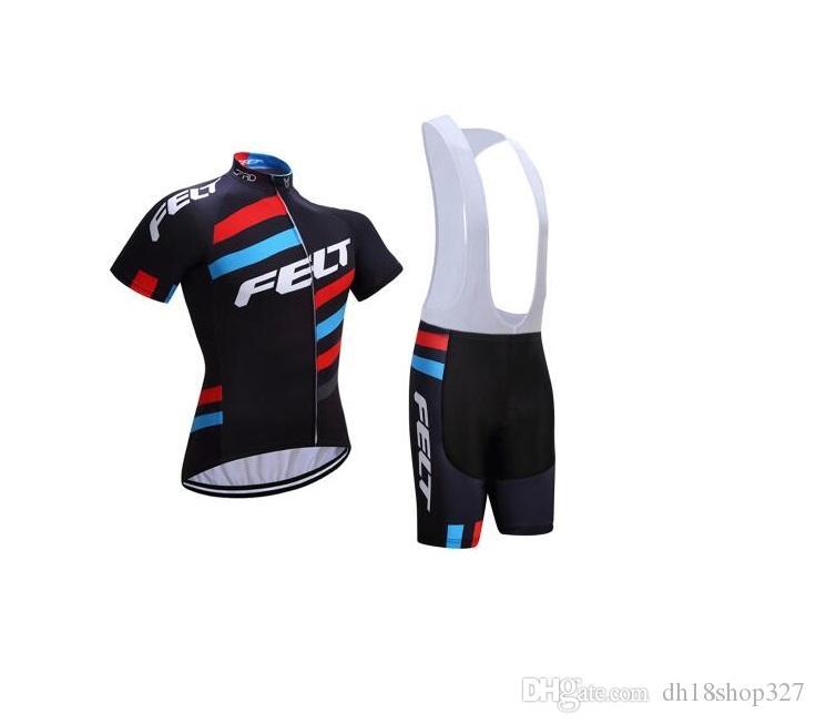 무료 배송 2017 FELT 자전거 저지 3D 젤 패드 자전거 반바지 Ropa Ciclismo 빠른 건조 팀 자전거 착용 남성 여름 자전거 Maillot Suit 3