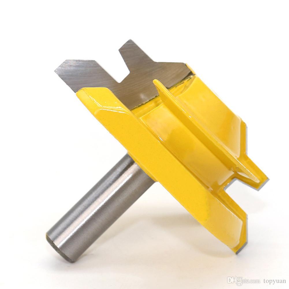 "1Pc 8mm Shank Médio Lock Mitre Router Bit - 45 Graus - 3/4 ""Stock Woodworking Fresa / Fresadores / Carbide End RCT"