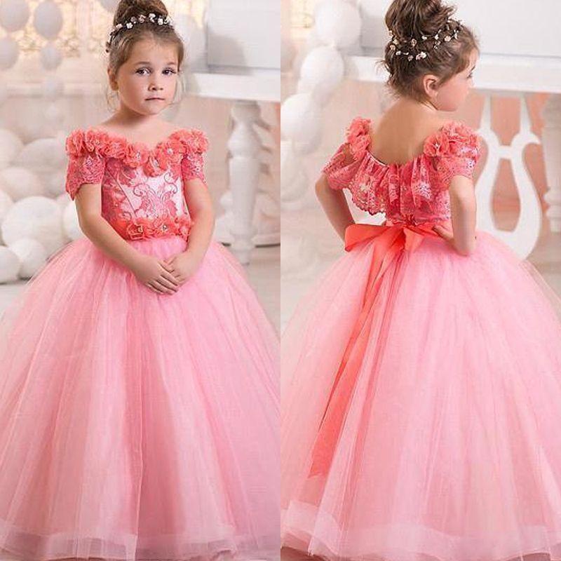 Classic Toddler Kids Baby Girl Short Sleeve Floral Deer Princess Pageant Dresses
