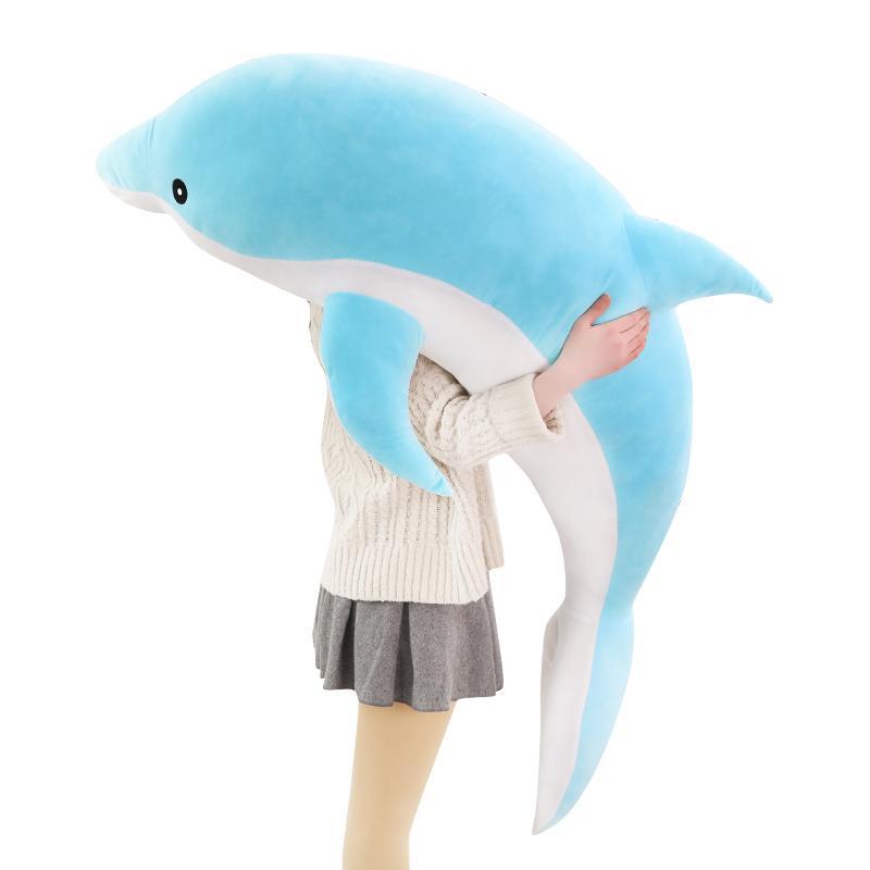 Hot Huggable large plush dolphin toys stuffed sea animal girls dolls baby sleeping pillow christmas birthday gift for children