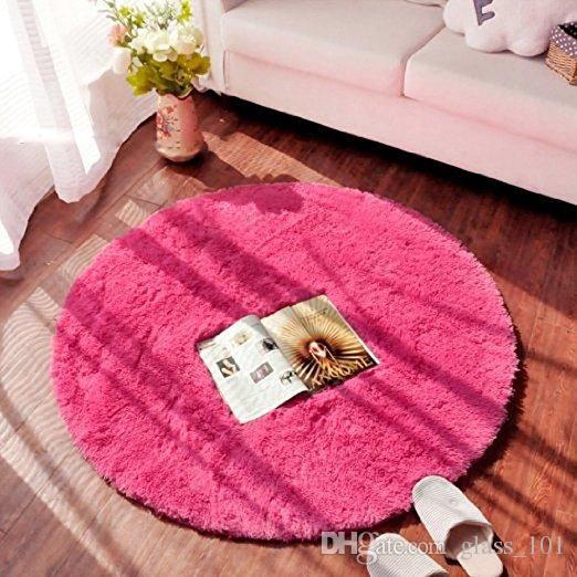 Hot Cheap High Qualiy Runde Shaggy Teppiche und Teppich Super Soft Schlafzimmer Teppich Kinder Spielmatte 3 Größen