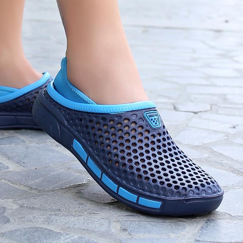Orijinal Bahçe Kağıt Hızlı Kurutma Su Ayakkabı Erkekler Jelly Spor Yaz Plaj Aqua Terlik Açık Sandalet Liteknit Ayakkabı Floplar