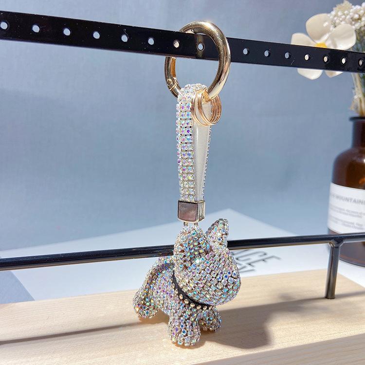 chaîne chien pit sertie de diamants mode clé dessin animé action figure pendentif cadeau créatif haut de gamme Shiba Inu sac dame accessoires By99 usine d