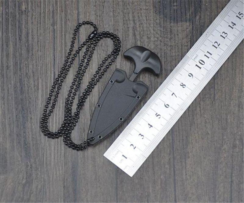 متعدد الوظائف البسيطة شنقا قلادة سكين بروتابلي التخييم في الهواء الطلق سكين بقاء أداة الإنقاذ