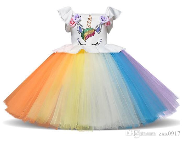 New Lovely Baby Girl Dress Fashion Flower Princess Dresses Cute kids Party Dress Wedding Dress Pettiskirt