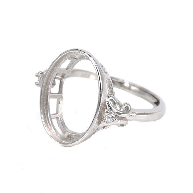 10x12 MM Oval Shape Semi Mount Beautiful Ring 925 Silver Occasion Gift Jewelry
