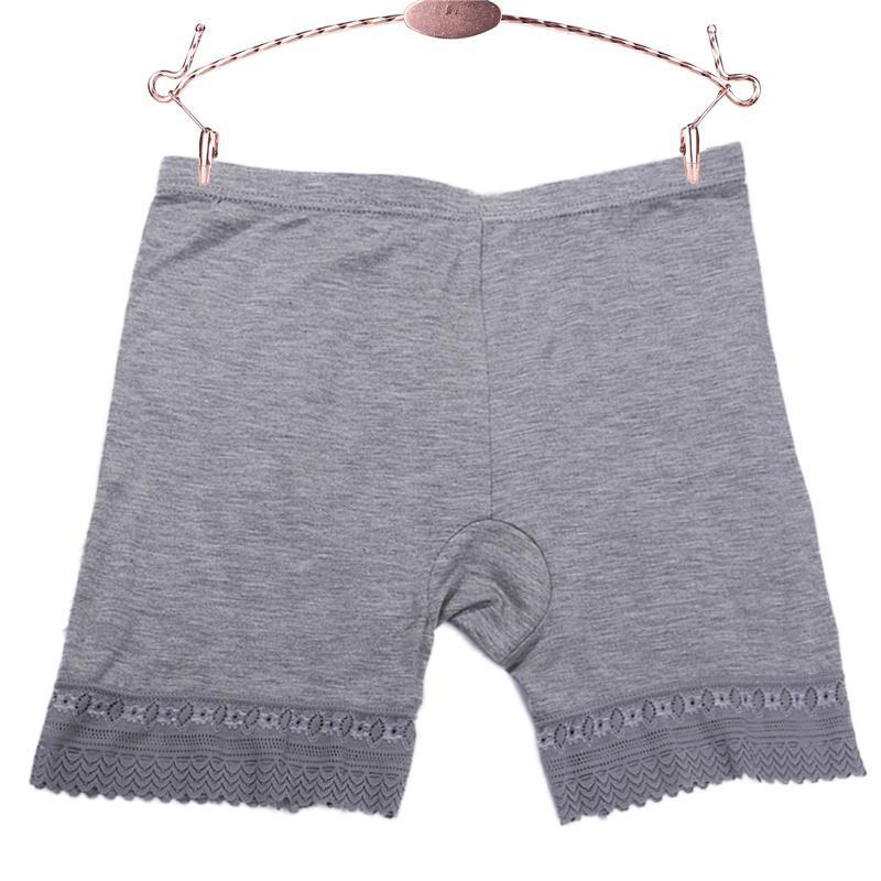 Pantalones cortos de seguridad sin fisuras Pantalones cortos de encaje Ropa interior de la cintura mediados de la cintura Pantías contra la luz de la luz Pantalones cortos de seguridad de las mujeres bragas