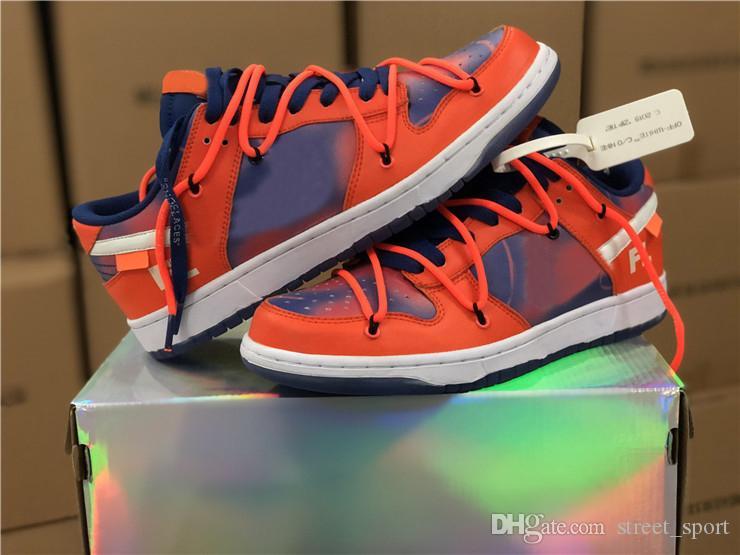 Futura x Sb Dunk Chaussures de course basses Orange Mca Unitversity Bleu Blanc Femmes Baskets Designer Hommes Baskets des Chaussures Schuhe Zapatos