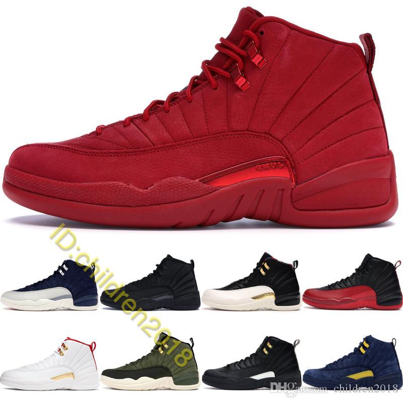 12 zapatos de alta Gimnasio Rojo Michigan baloncesto FIBA para los hombres de salto Formadores Clase de 2003 Tamaño Taxi El Maestro Negro Invierno 40-47 zapatillas de deporte