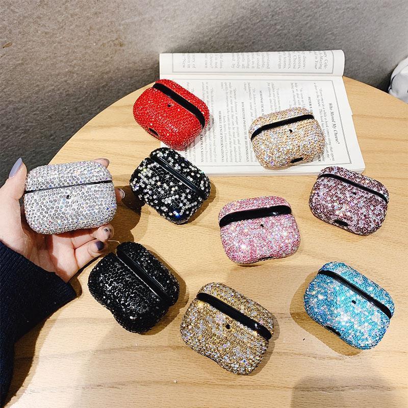 Per Airpods Pro Caso di lusso di marca diamante Casi protettivo della copertura di Bling Bling Strass auricolare per Airpods 3 cuffie Bluetooth