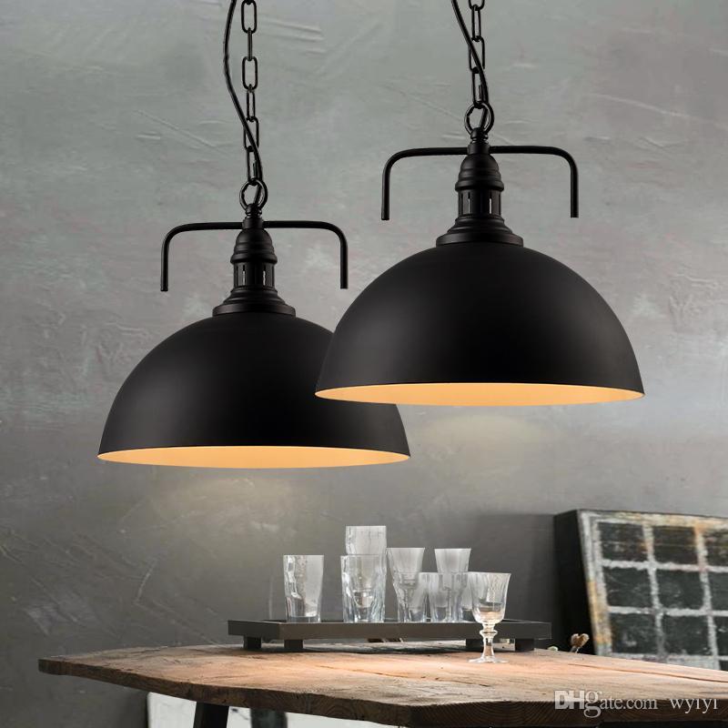 Retro Industrial style chain pendant light lamp E27 Hanging light, Restaurant bar living room bedroom LED lighting AC 85-260V