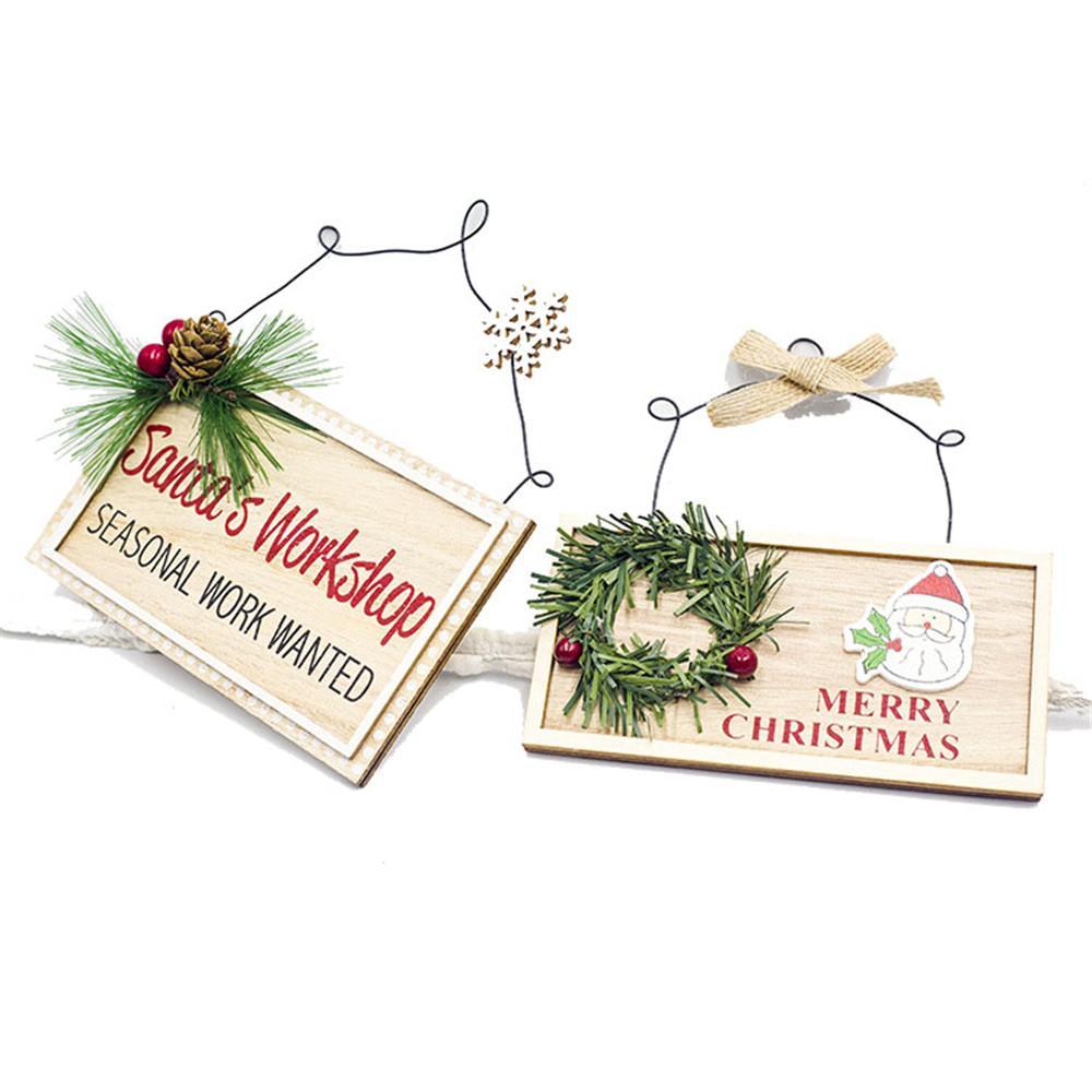 2019 Noel Ahşap Asma Dekorasyon Yılbaşı Alfabe Ev Plaka Noel Asma kolye Süsler