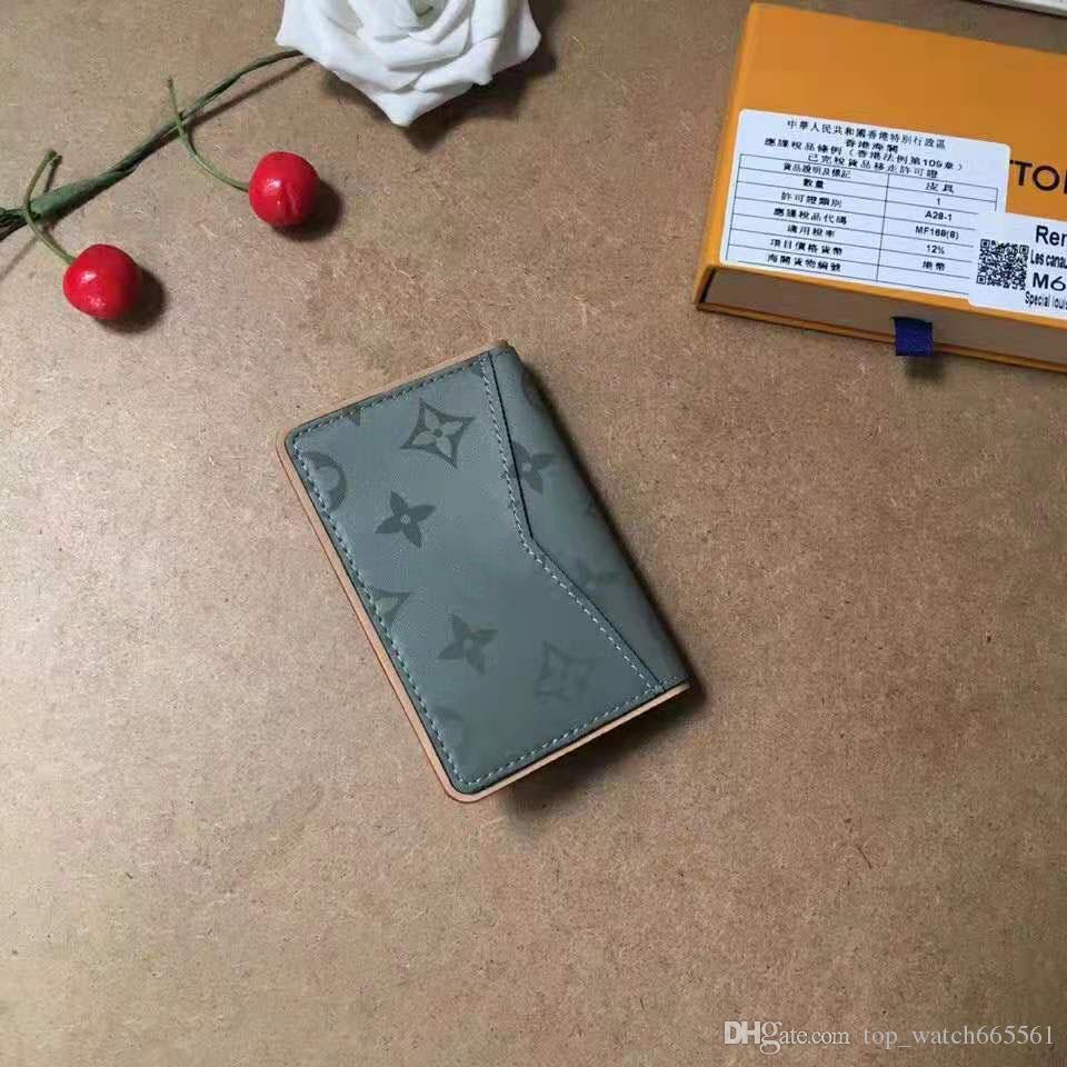 مصمم حقائب اليد محفظة مصمم محفظة إمرأة الفاخرة محافظ رجال محفظة مصمم محفظة حامل بطاقة محافظ جلد طبيعي مع مربع 63233