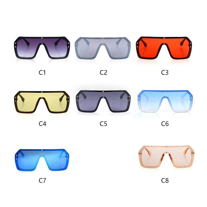 2020 Oversized Escudo Visor Sunglasses Mulheres Tamanho Grande Sunglasses Men transparente do quadro do Big Windproof Retro Óculos frete grátis