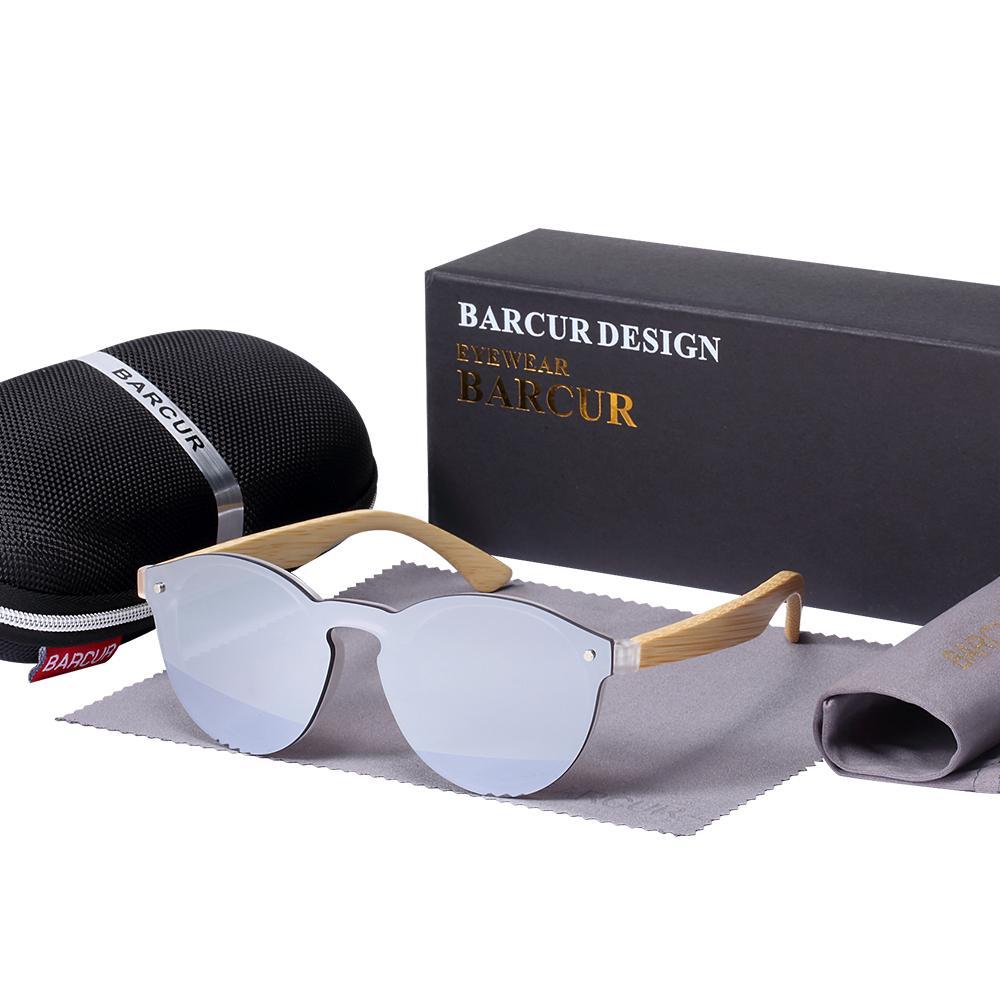 2018 BARCUR Lunettes de soleil Cat Eye Bamboo Men Nouveaux lunettes Cat Eye pra Lunettes de soleil pour femmes Googles Lunettes de soleil rouges Lunettes de pêche