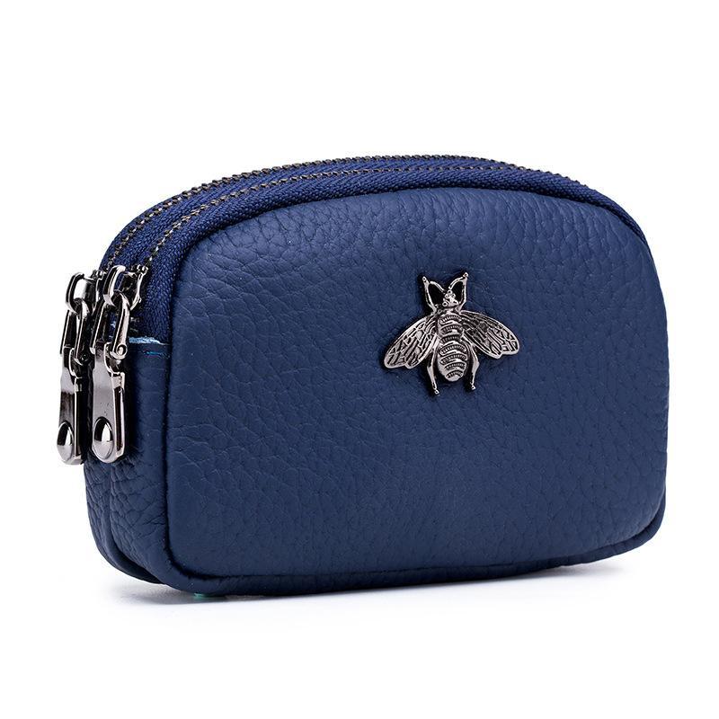 vendita all'ingrosso borsa portafogli donna portafogli donna in vera pelle borsa designer doppia cerniera portamonete borsa porta carte ape