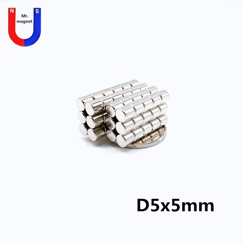 200pcs Sıcak satış 5x5 mıknatıs 5 * 5mm disk NdFeB mıknatıs D5x5mm nadir toprak mıknatıs 5mm x 5mm 5x5mm neodim mıknatıslar 5x5mm ücretsiz gönderim