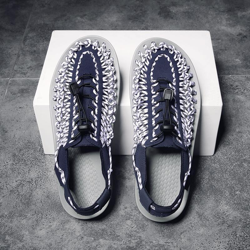 Vendita calda-colorato uomini sandali da spiaggia uomini casual knit sandali grande taglia roma scarpe per uomo scarpe da esterno scarpe coppia scarpa unisex scarpe ZY335