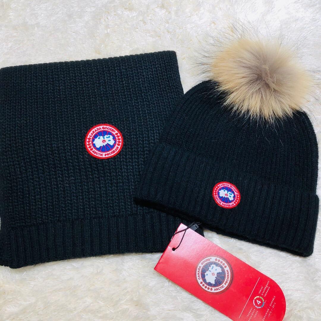 2019 высокое качество знаменитости дизайн письмо шерстяной шарф шляпа мужчины женщина кашемир шерсть Фокс волос мяч шляпа 2 шт. 538561 3HE25 1080 014