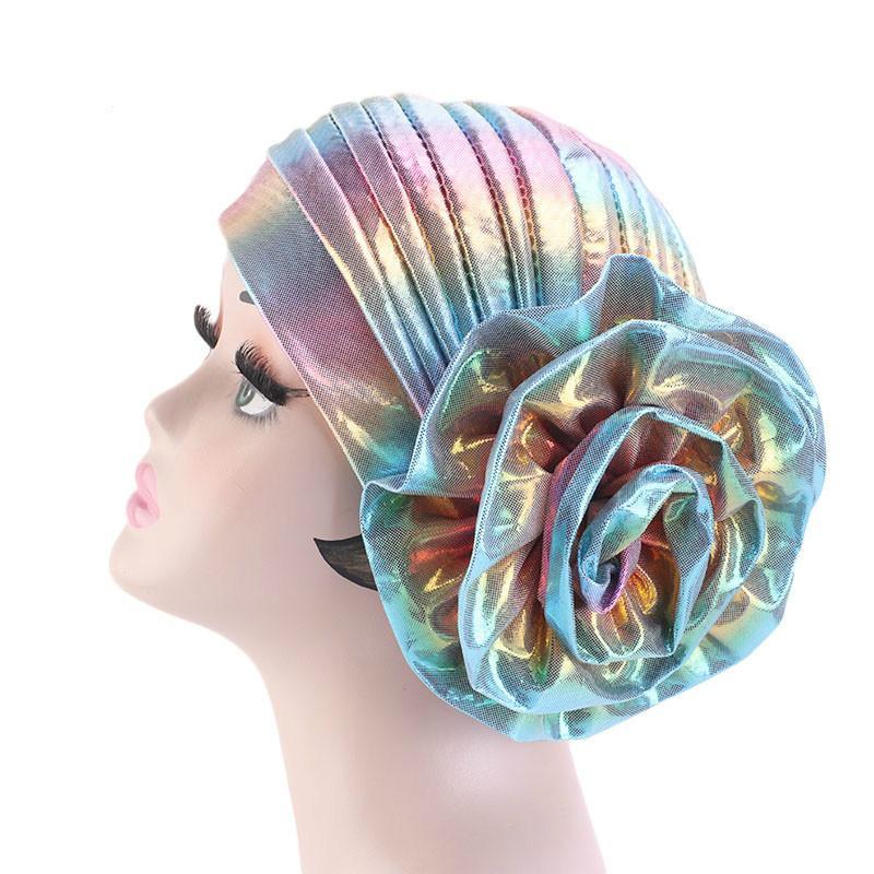 Acessório da festa de casamento Bandana Cap Cancer Cap indiana Flor turbante muçulmano Hijab Hat Mulheres Beanie Chemo Turban Headwear cabelo