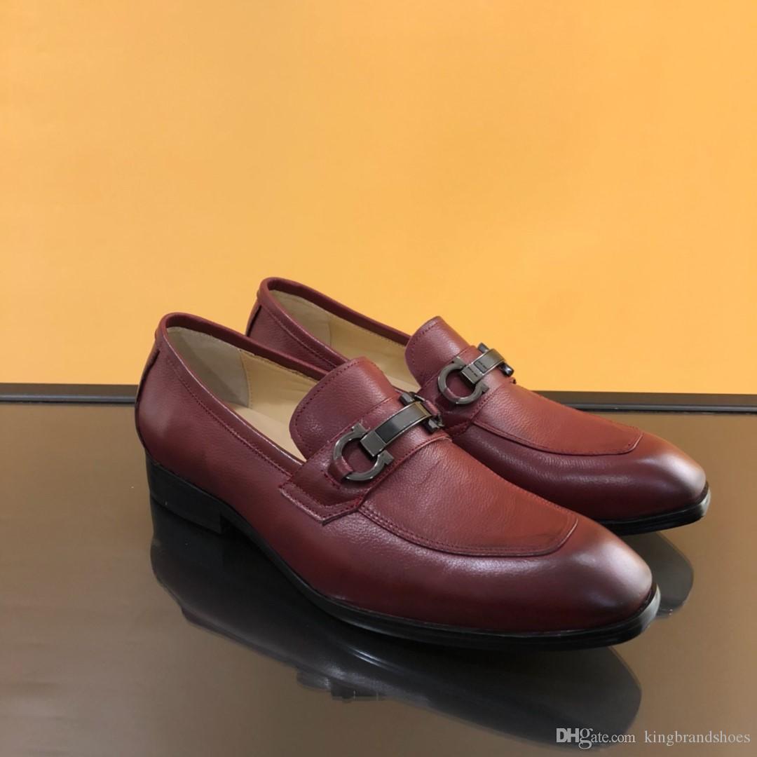 chaussures hommes d'affaires décontractée chaussures unique de haute qualité série véritable semelle en cuir à bout carré chaussures casual en rouge