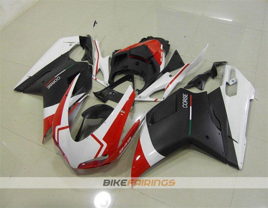 Топ новый ABS мотоцикл обтекатель комплекты для DUCATI 848 1098 1198 2007 2008 2009 2010 2011 2012 кузов комплект бесплатный пользовательский красный белый черный матовый